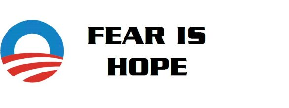 fear is hope bumper sticker-J