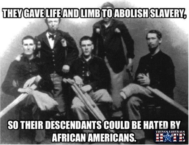 abolished slavery-hate